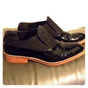 Womens parent leather loafers